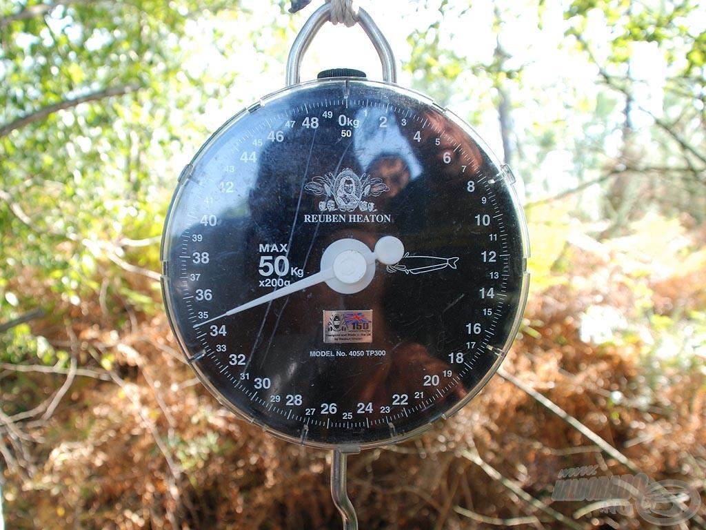 A Rainbow-tó őslakosa 34,20 kg-ot nyomott
