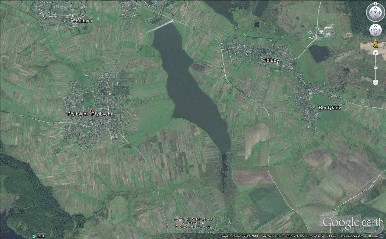 A tározó műhold fotón