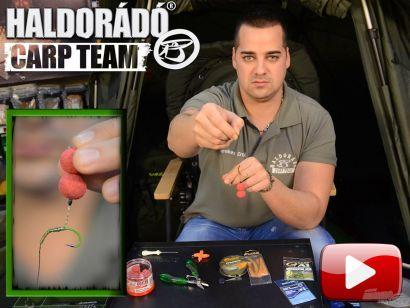 A Haldorádó Carp Team kötései, végszerelékei 3. rész – Line aligner rig, beforduló előke