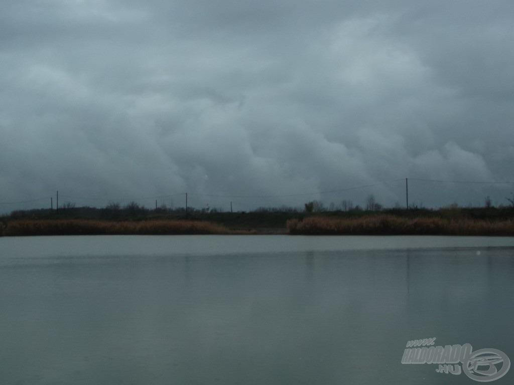 Éppen nem esett, de ezek a felhők nem sok bizakodásra adtak okot