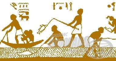 … és egyiptomi ábrázoláson