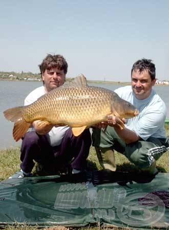 A radutai horgászatunk legnagyobb, 19,10 kg-os tőpontya