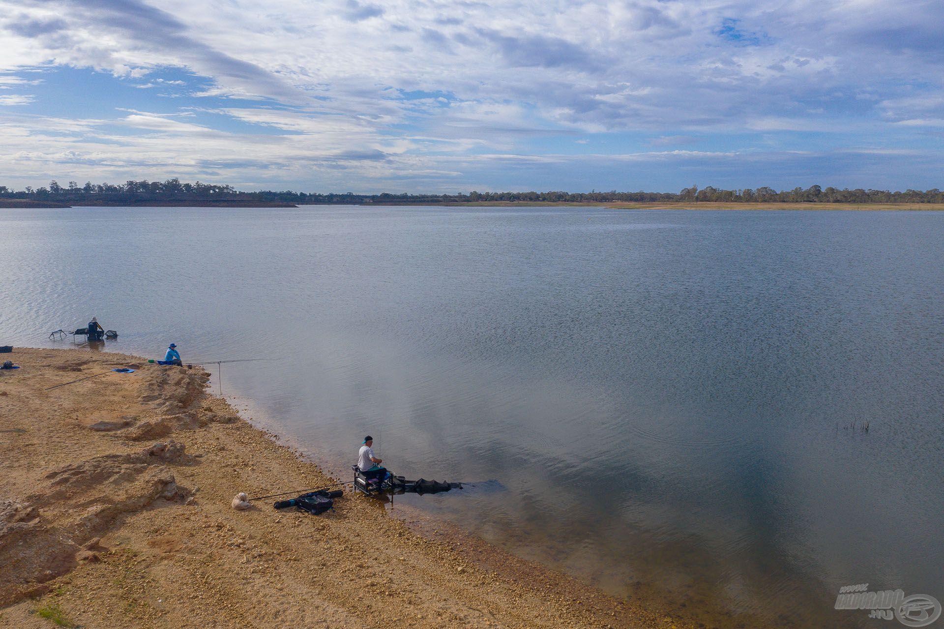 Ezen a területen hárman horgásztunk három különböző módszerrel