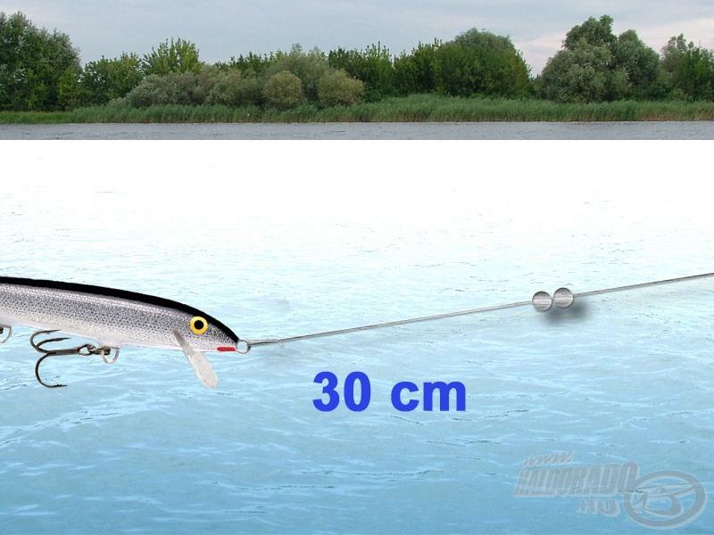 Horgászat Original wobblerrel nagyobb mélységben