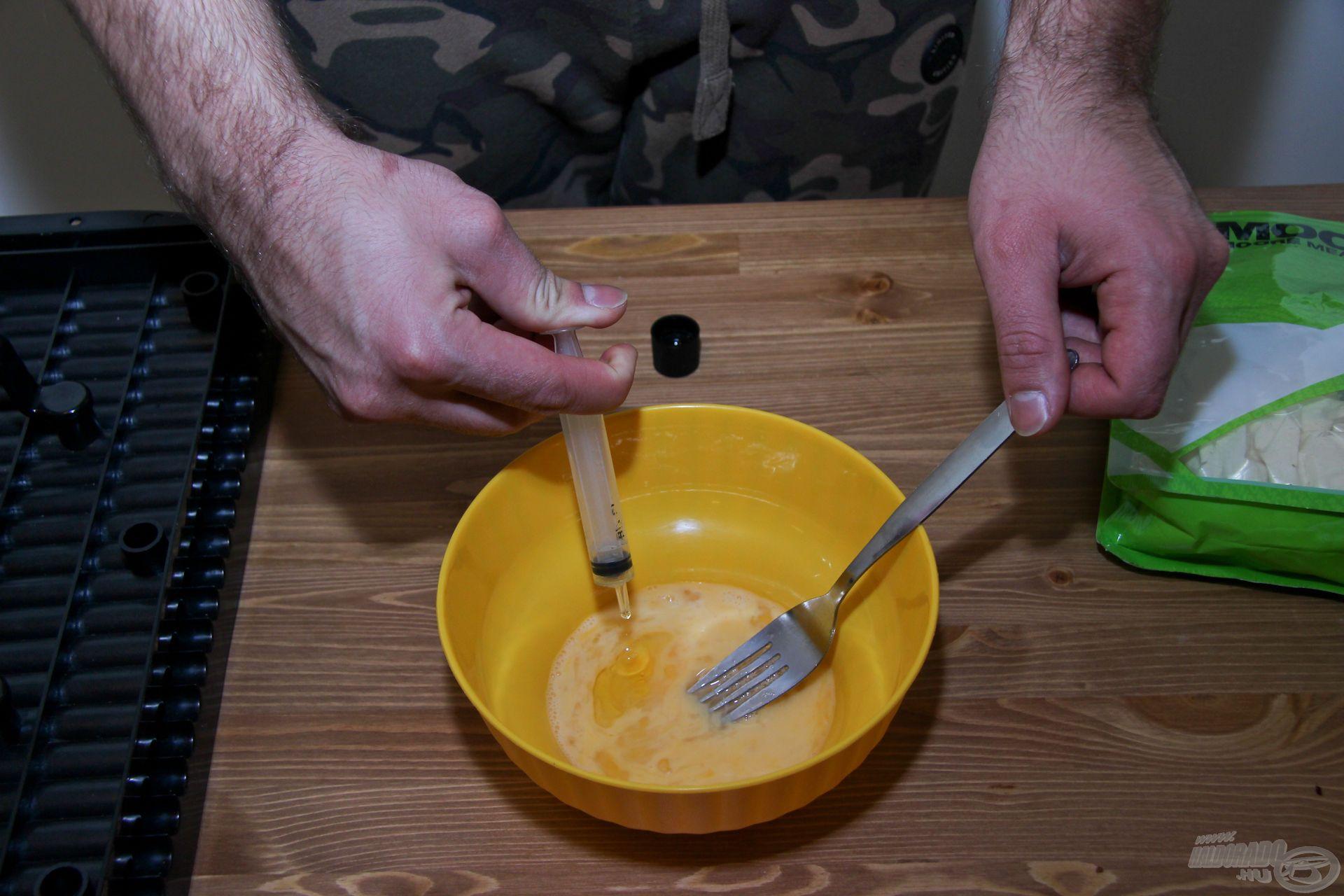 Egy fecskendő segítségével pontosan kimérhetjük a mennyiségeket