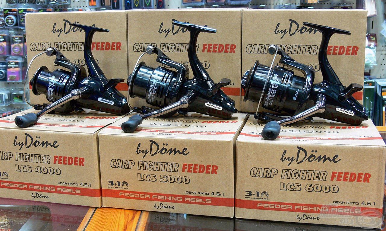 Sőt itt lesz a By Döme - Team Feeder Carp Fighter LCS orsócsalád is, és kedvezményes áron lehet megvásárolni