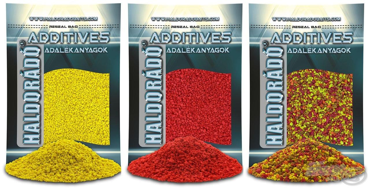 Süllyedő angolmorzsák sárga és piros színben (enyhén sós) natúr ízesítéssel, míg a vegyes morzsa szuper édes ízesítéssel kerül forgalomba
