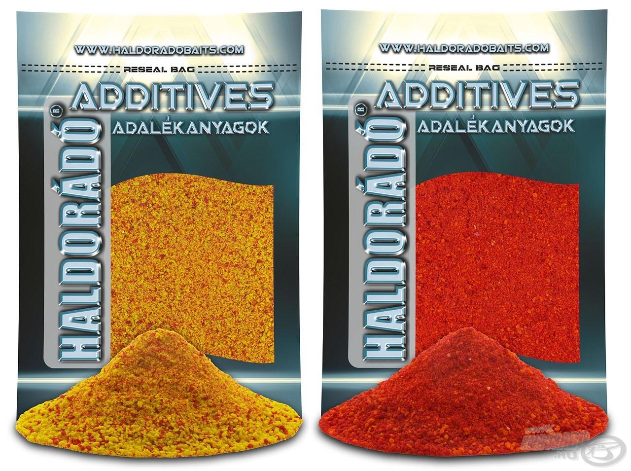 A pontyos és kárászos verseny etetőanyagok titkos adalékanyagai a piros és sárga pastonchinók. Ezek Haldorádó változatai sem szokványos módon épülnek fel!