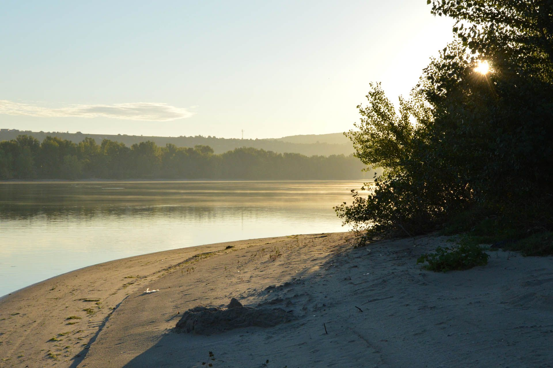 A napkelte már a parton ért minket