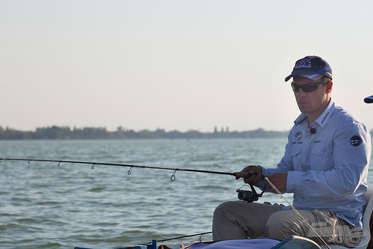 A verőfényes napsütésben folyamatosan kerestük a halakat