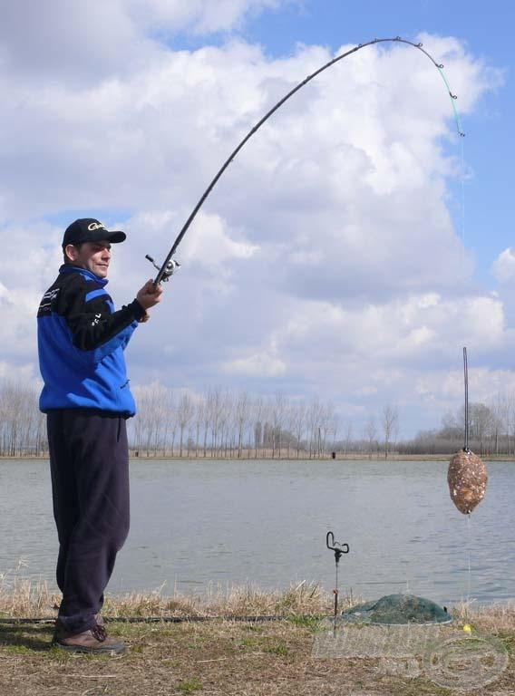 Mindenkinek azt javasoljuk, hogy elsőre ne akarjon nagyot dobni, ne akarjon nagy súlyt bevetni, ne akarjon mindenáron nagy halat fogni!