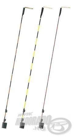 Különböző érzékenységű oldalspiccek nyitott felkapókaros horgászathoz