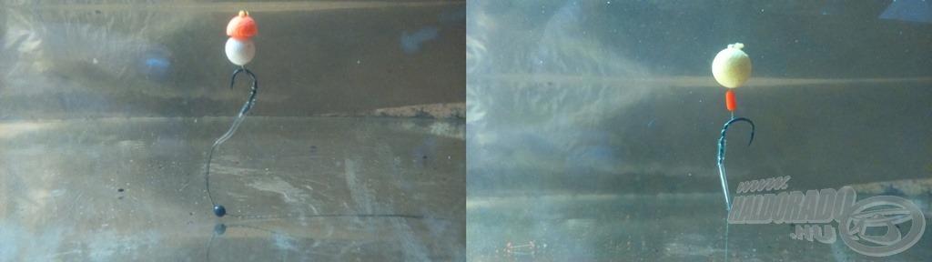 Ez a két csalikombináció adta az eddigi halakat. 0,12 mm-es fonott előkére kötött, 6-os méretű Fox és PB horgokat használtam a nap folyamán