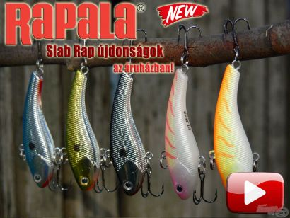 Az új Rapala Slab Rap már elérhető a Haldorádó kínálatában!