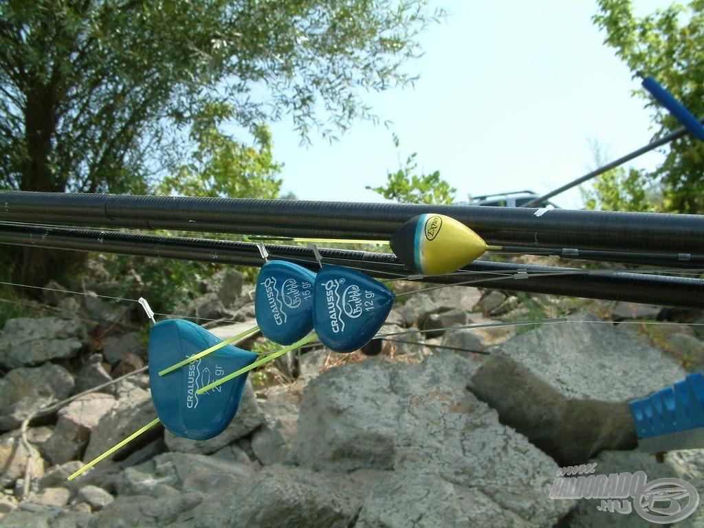 Különböző méretű úszókkal lehet szerelni a rakós botot