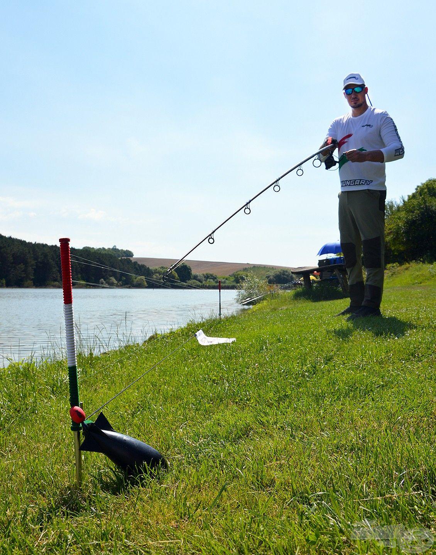 Miután elfoglaltuk a horgászhelyet, első dolgom a távolságmérés…
