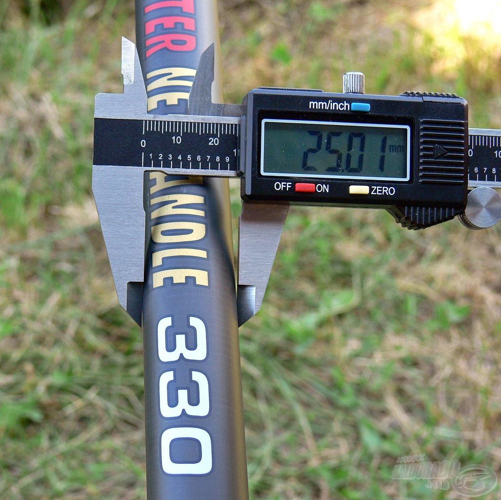 E változatnál a nyéltag-átmérő mindössze 25 mm …
