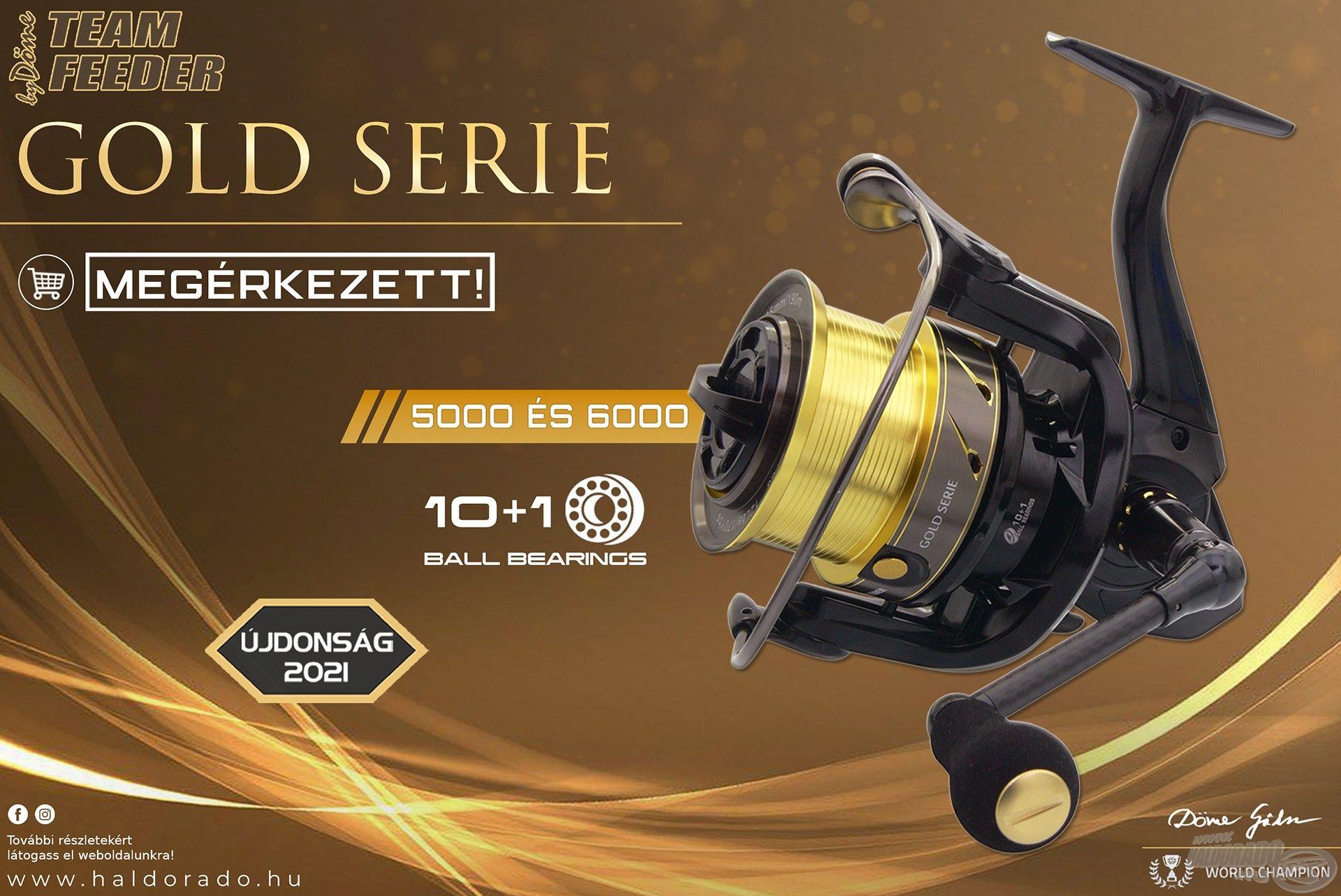 A Gold Serie orsó megjelenése és műszaki paraméterei is impozánsak