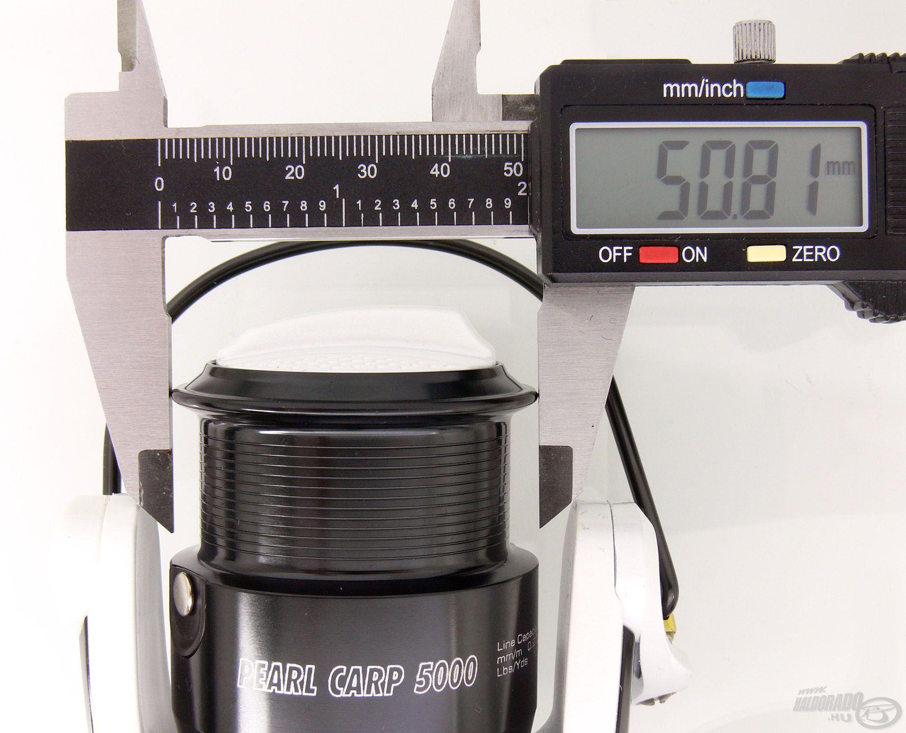Az 5000-es méret dobátmérője 50,81 mm