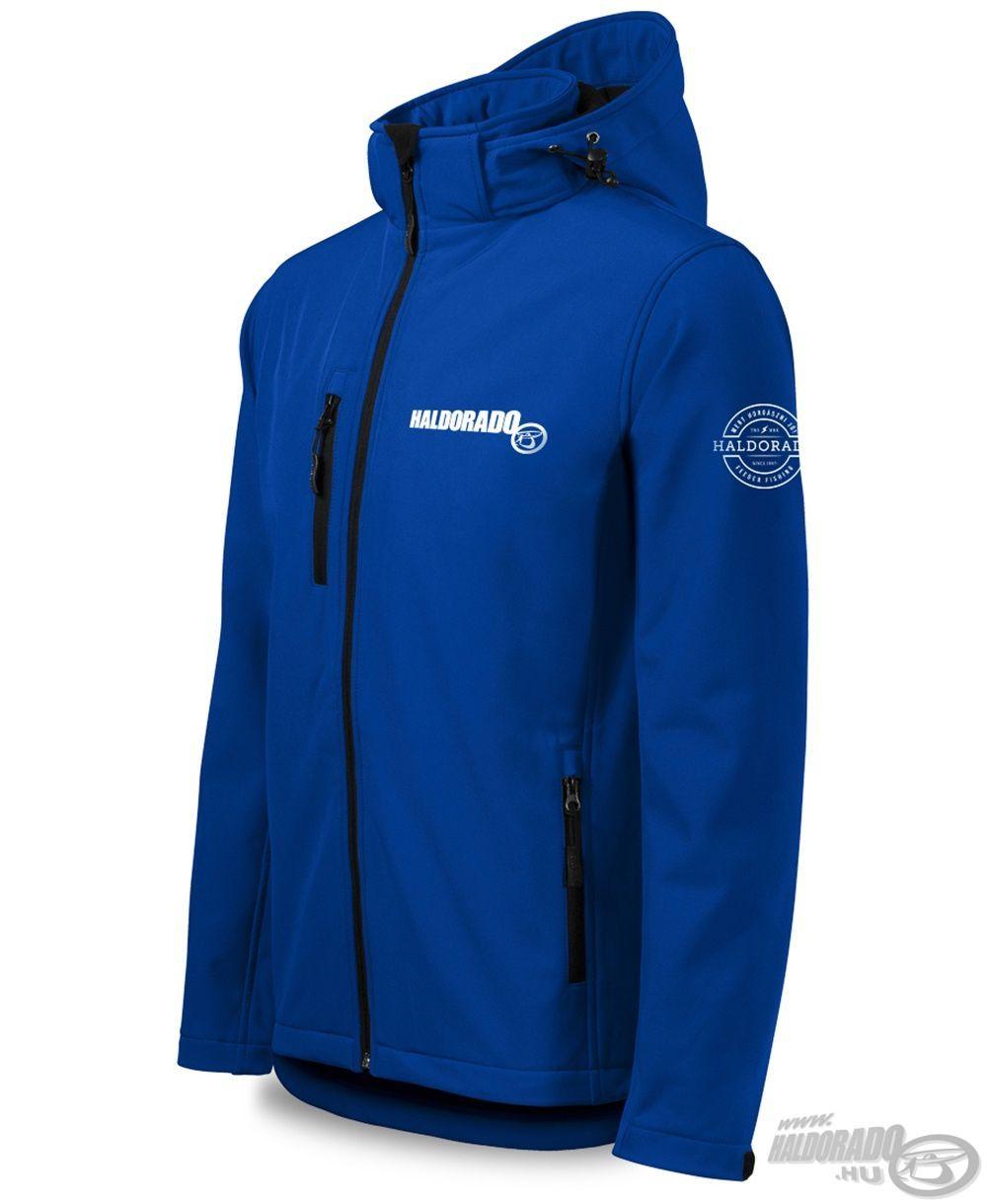 Modern szabású softshell kabát