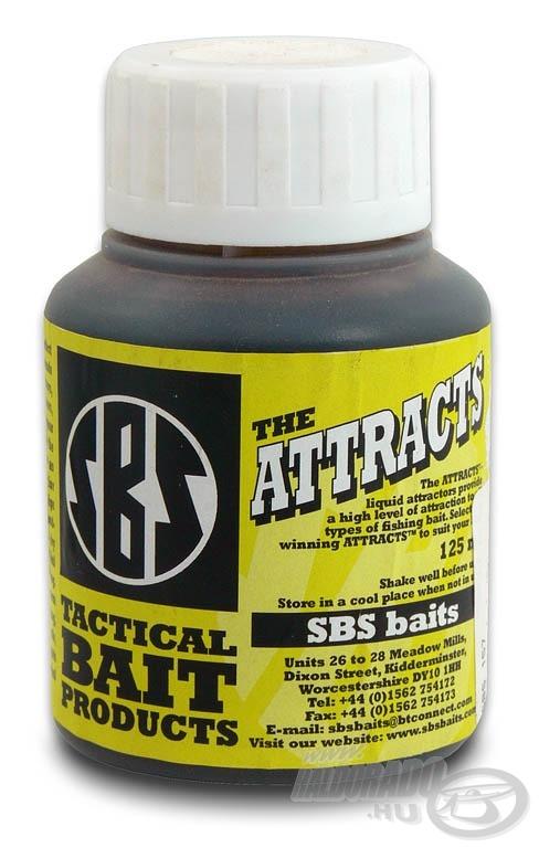 Az SBS Attracts egy valóban fogós (hosszú távon működő) tartalmas bojli nélkülözhetetlen alkotóeleme