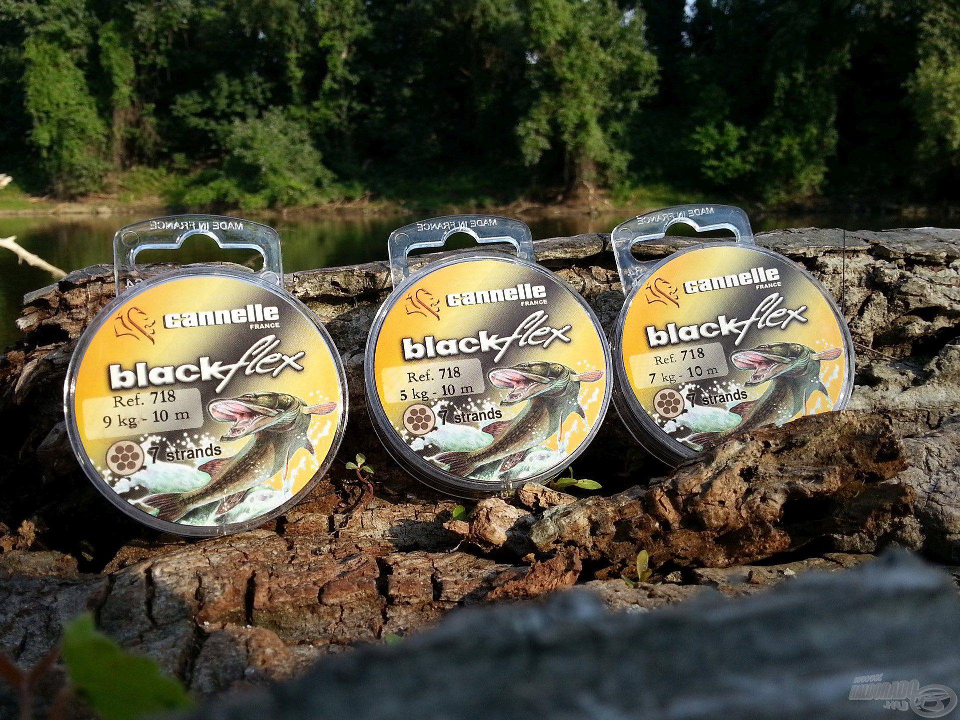 A Blackflex 718 szintén remek tulajdonságokkal rendelkezik, három különböző méretét elsősorban csukázáshoz és süllőzéshez ajánljuk