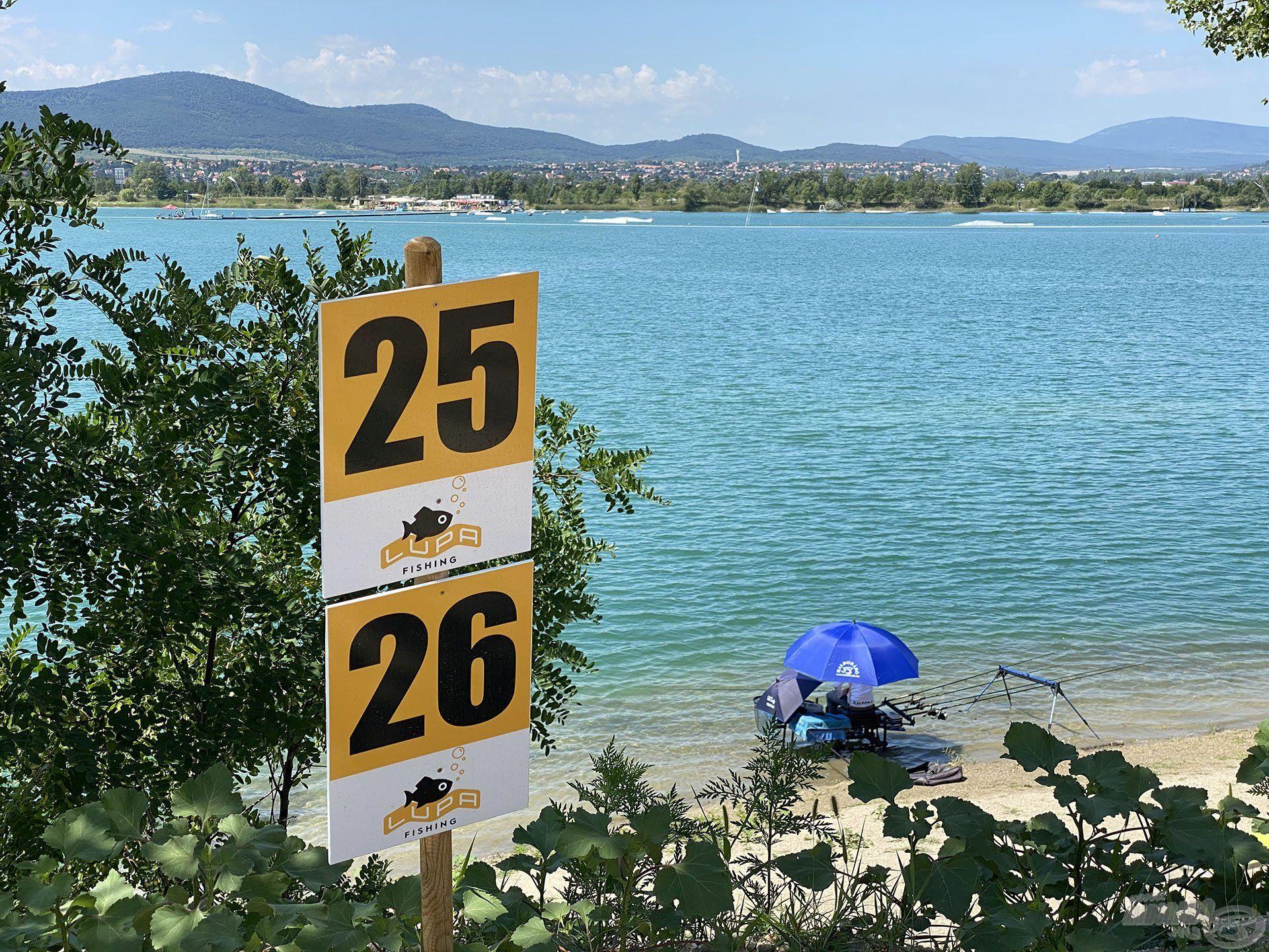 A 26-os helyen horgásztam