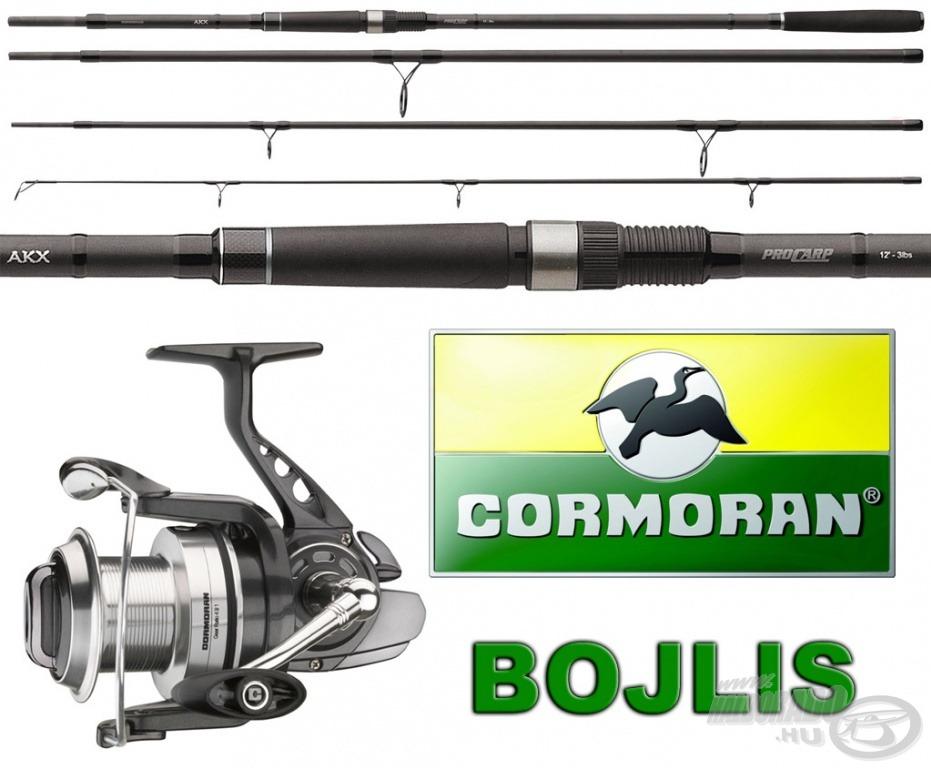 A bojlis horgászok egy Cormoran PRO CARP AKX 3,60 m hosszú, 3 lbs tesztgörbéjű bojlis bot 4-es változatára, hozzá egy AKX 6PiF 5000-es orsóra pályázhatnak