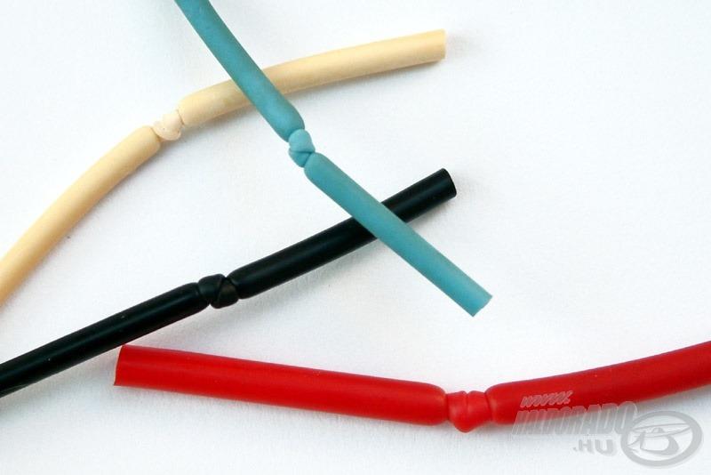 Szállítás és tárolás közben a gumi vége le van kötve, hogy a szilikonos folyadék ki ne folyjék belőle