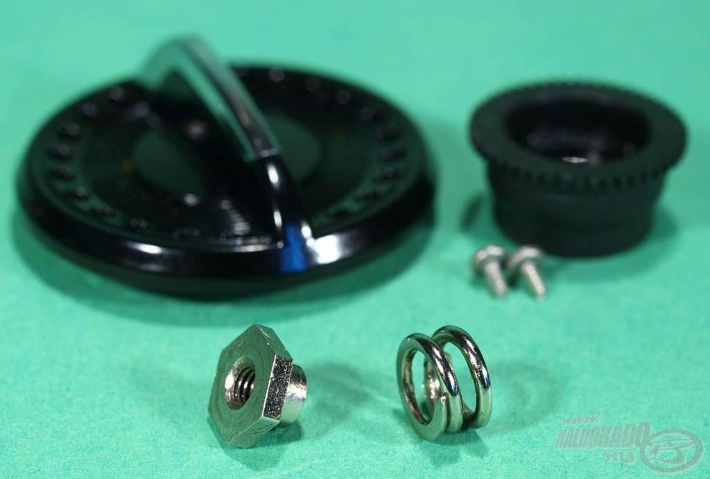 A fékcsillagban lévő spirálrugó biztosítja a hosszú fékutat és a nyomóerőt