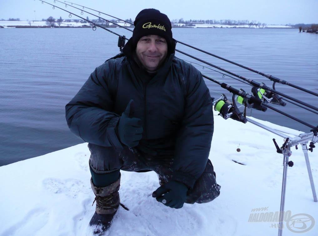 Hamísítatlan téli horgászatban volt részünk