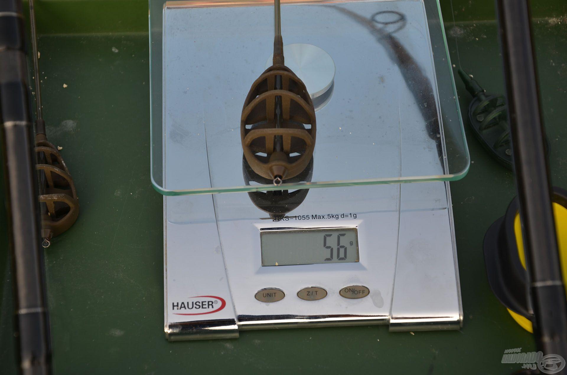 Üresen 56 g a Long Cast kosár