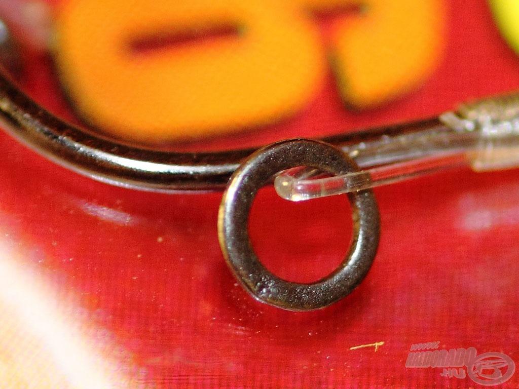 A horog legfontosabb része a fém csaligyűrű