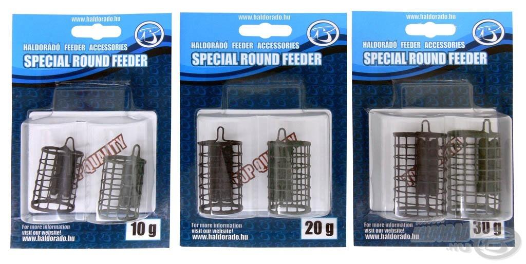 Három különböző méretben kerül forgalomba. Minden csomagban 2 db feederkosár található matt fekete és hínárzöld színekben