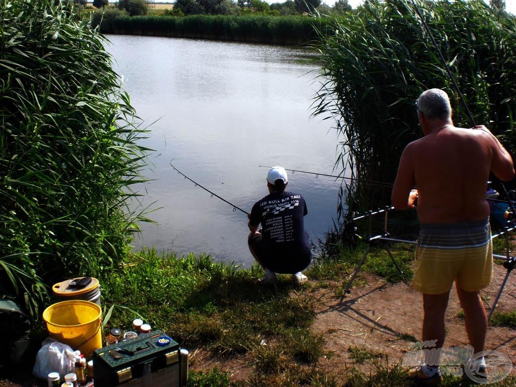A szomszédok nagyon segítőkészek voltak. Mindenki, aki erre a tóra jár, tudja, hogy nehéz dolga van a horgásznak, ami a fárasztást illeti