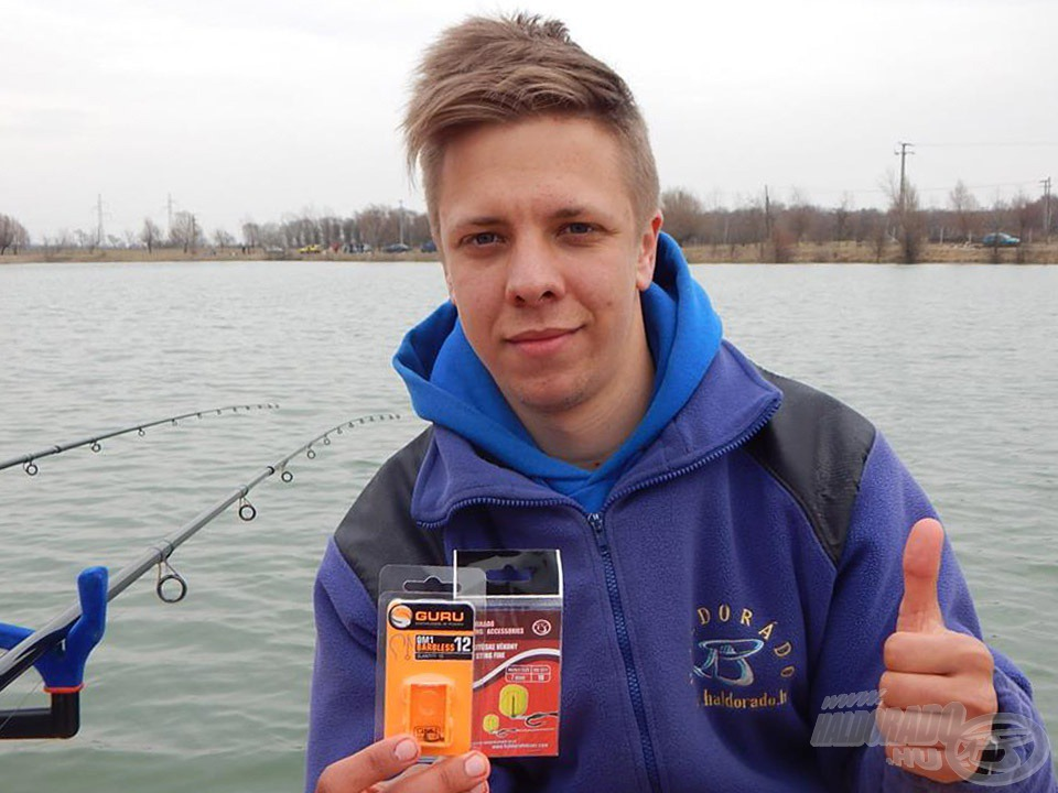 Guru QM1 horgokat használtam a horgászat során, Haldorádó Fine 7 mm-es csalitüskével. Tökéletes párosítás a könnyen felszívható csali felkínálására hangolva!