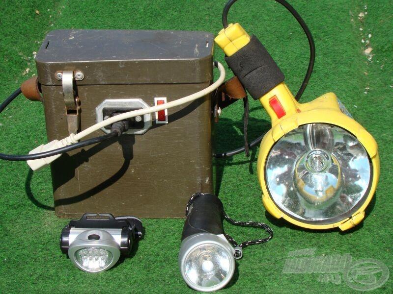 Lámpából sohasem elég, a doboz egy 9 Ah-s akkumulátort rejt, ez szolgál a reflektorlámpa, a pozíciófénynek és a halradar áramforrásául is