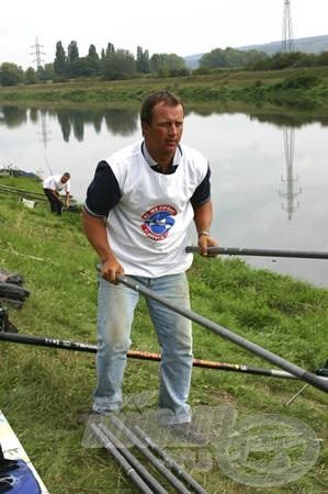Magyar Szilárd, rutinos versenyző, de Őt is próbára tette a pálya