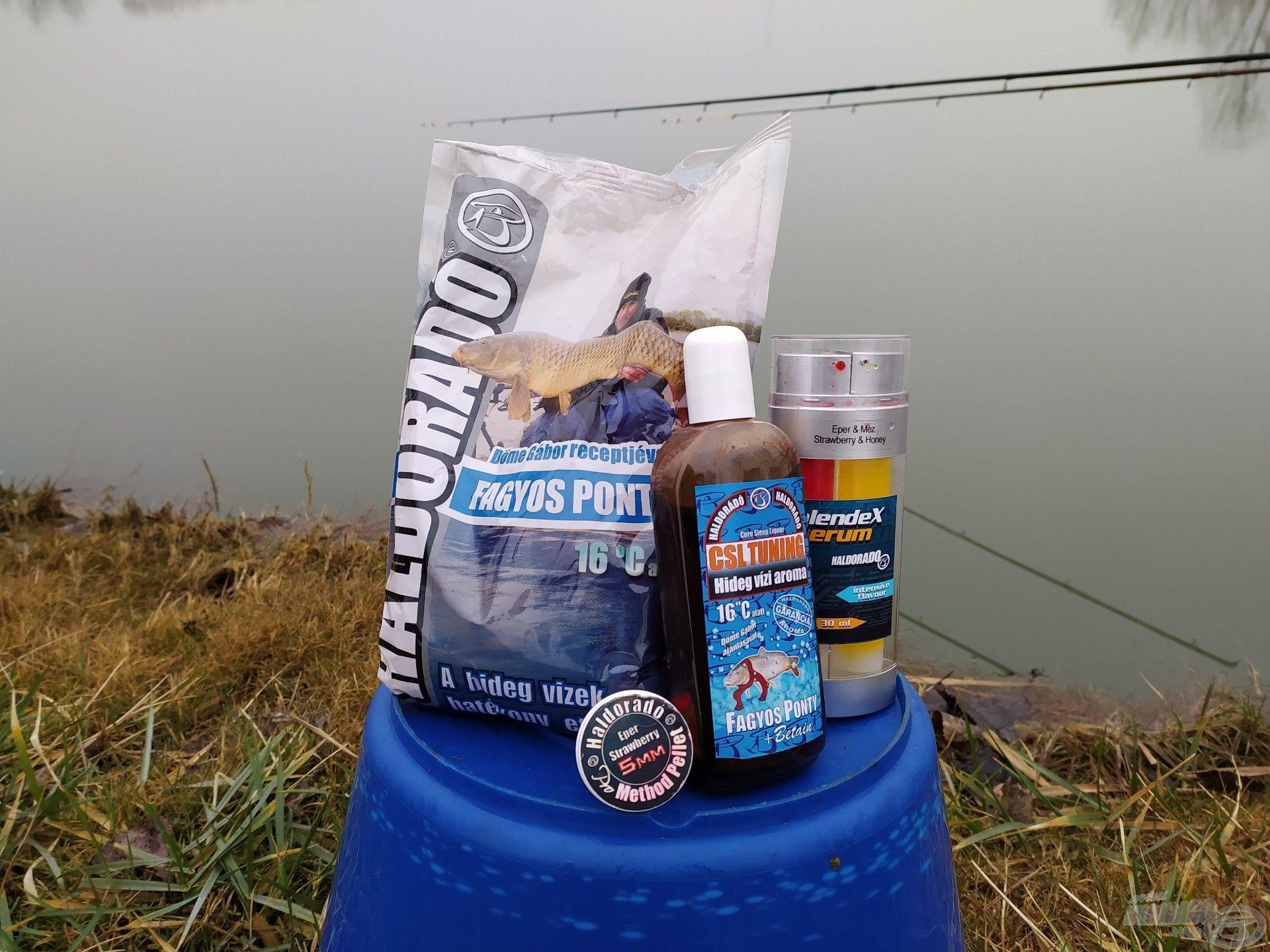 A hideg vízi horgászatra ezeket a csalogatóanyagokat hoztam