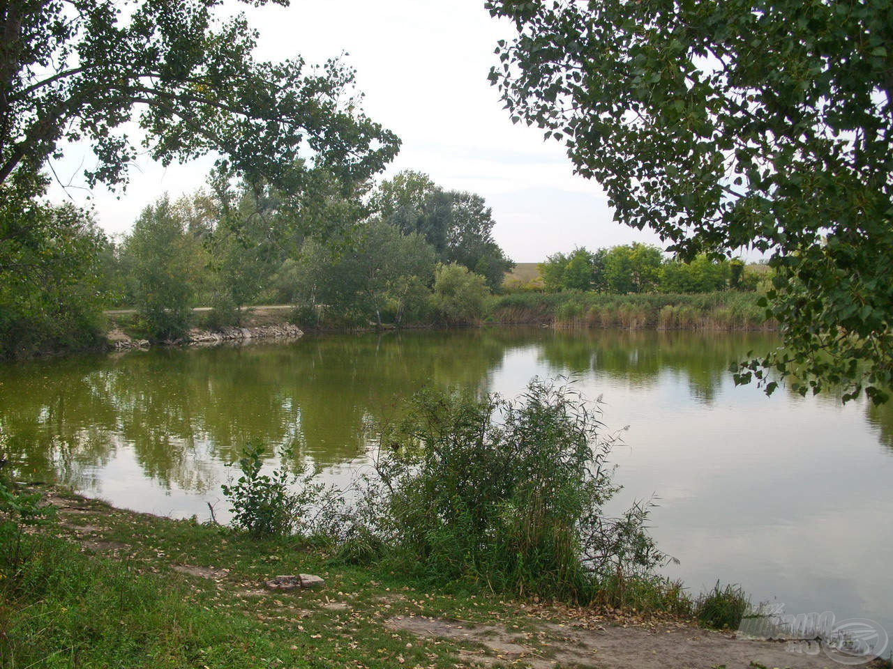 Két keskeny szakasz is található a tónál, ezek közül a bal oldali kis öböl igen népszerű a horgászok körében