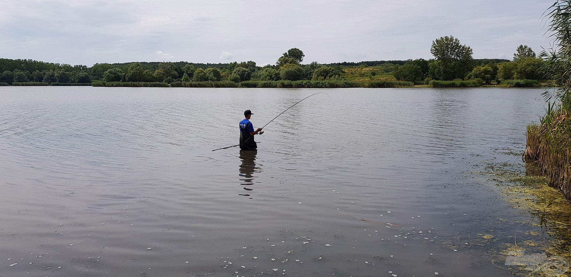 Újra a vízben, és újra egy jó hal