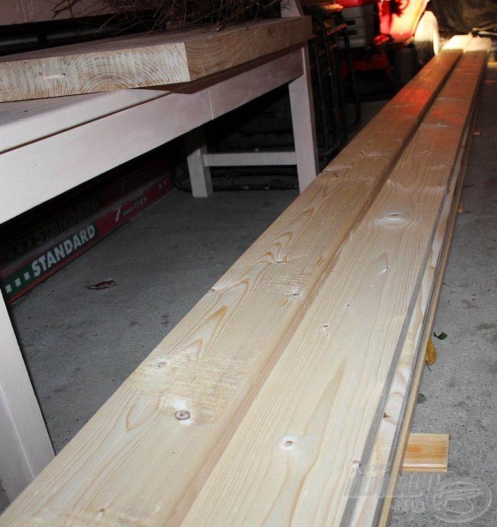 A 6 méteres deszkák leszállítva