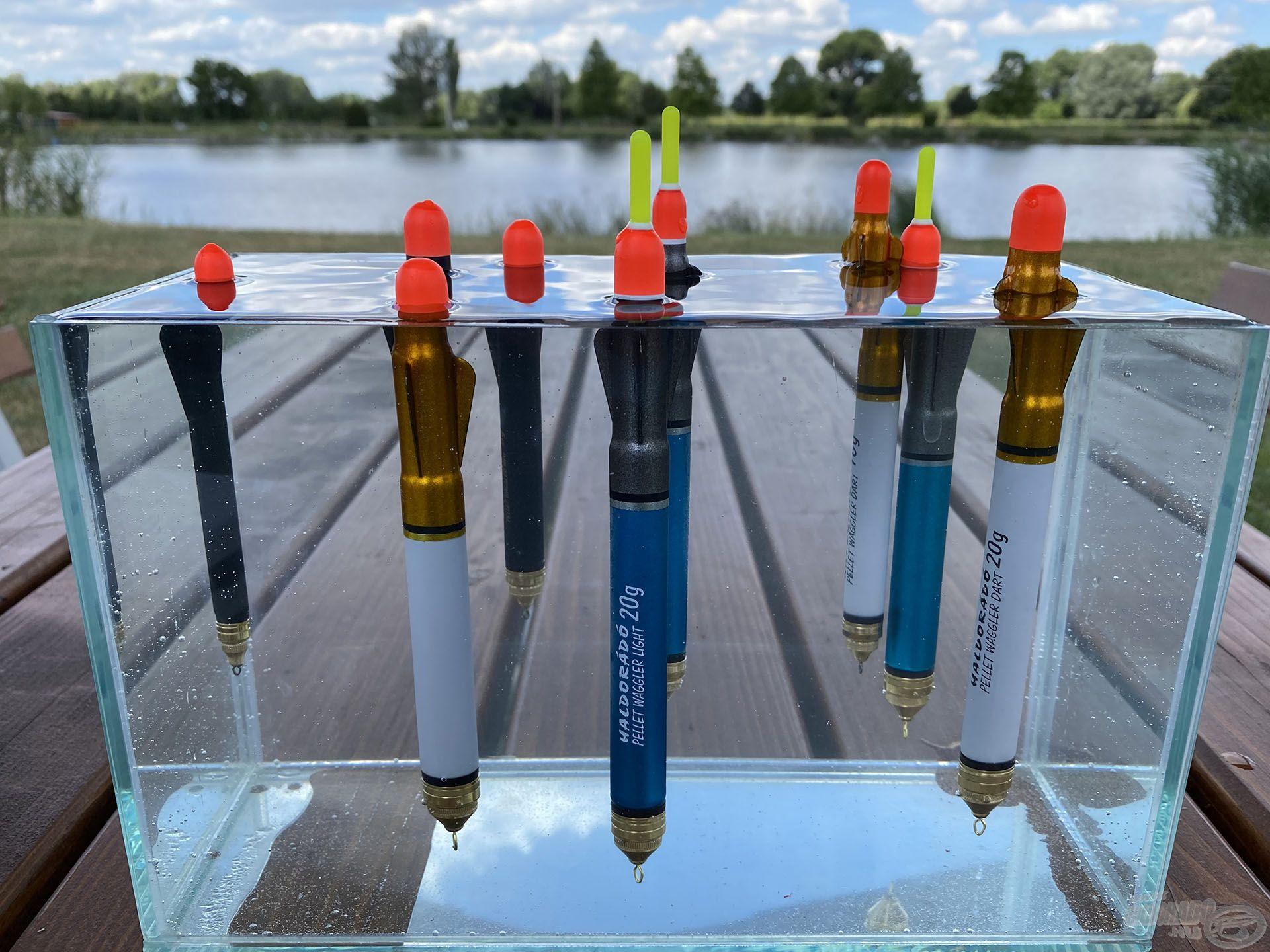A vízfelszíni pontyhorgászathoz kifejlesztett speciális úszók már a Haldorádó kínálatában is megtalálhatók három különböző változatban