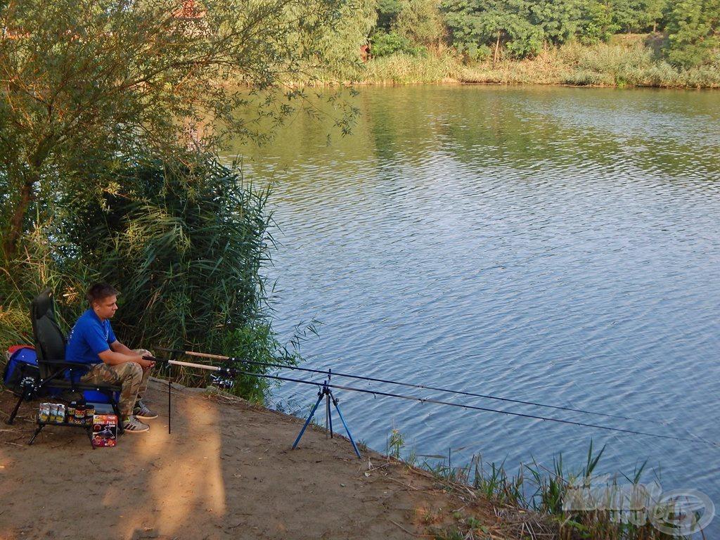 Végre minden a helyén, kezdődhet a horgászat!