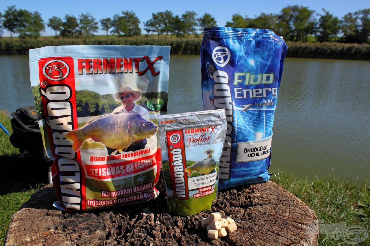 Hűlő vizekben hatásos tejsavas keverékem alapanyagai: FermentX Tejsavas Betainos + Fluo Energy Ördögűző etetőanyagok