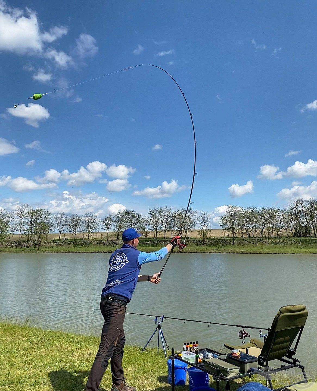 … mivel az itteni sikeres horgászat egyik alapeleme a pontosság!