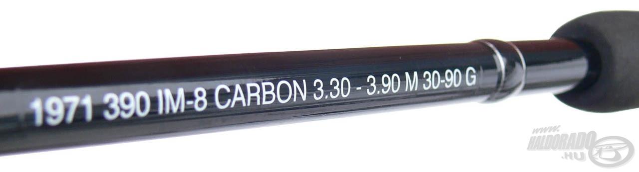 Az IM-8 karbon anyagnak köszönhető a gyors és jól terhelhető blank