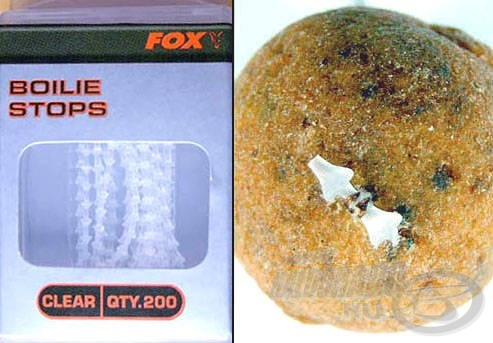 Fűzött csalik rögzítésére legkiválóbb a Fox stopper