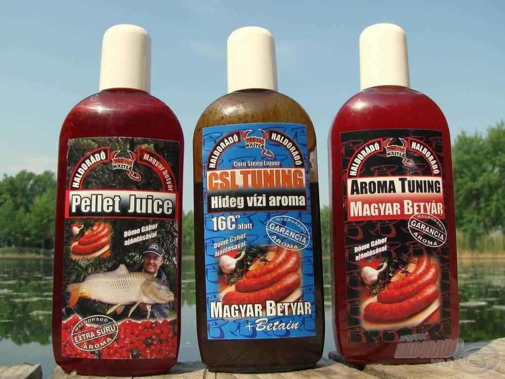 Pellet Juice, CSL Tuning és Aroma Tuning folyékony aromák a Haldorádó kínálatában