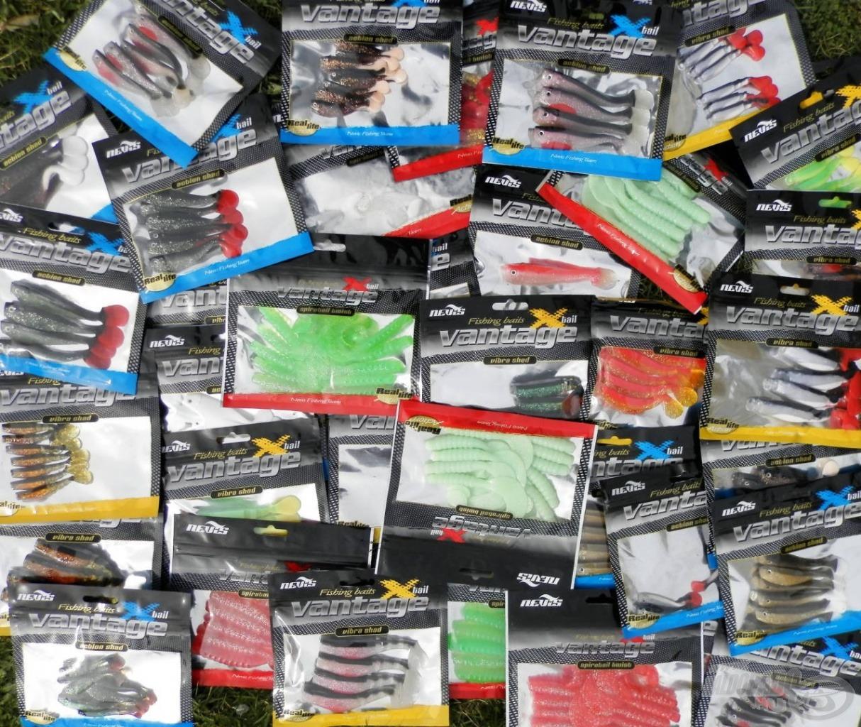 A Nevis Vantage Action Shad, Vibra Shad és Spiratail gumik remek színekben kaphatók